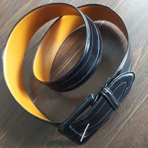 LAUREN by Ralph Lauren Black Leather Belt XL